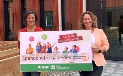 VME-Spendenübergabe: Möbel für Hamburger SOS-Kinderdorf